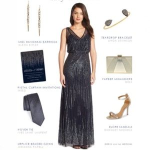 Adrianna Papell disco embellished gown